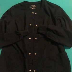 Euc xs black Cherokee luxe scrub jacket